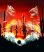 Pup Digital Art - Desert Fox Pup by Madeline  Allen - SmudgeArt