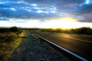 Blacktop Prints - Desert Highway Print by Anthony Citro