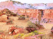 Impressionism Photos - Desert History by Lenore Senior and Angela L Walker