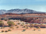 Desert Painting Originals - Desert in New Mexico by Donald Maier