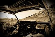 Junk Car Framed Prints - Desert Junk Yard Framed Print by Patrick  Flynn