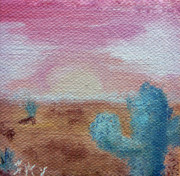 Horizon Paintings - Desert Landscape by Jera Sky
