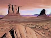 Desert Art Mixed Media - Desert Landscape by Wayne Bonney