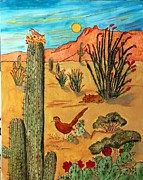 Desert Pyrography Metal Prints - Desert Life Metal Print by Mike Holder