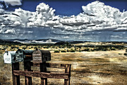 Towns Digital Art - Desert Mailboxes by Danuta Bennett