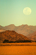 Beautiful Place Posters - Desert moonrise Poster by Alistair Lyne