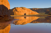 Monument Valley Photos - Desert Pools by Mike  Dawson