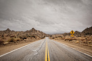 Double Yellow Line Prints - Desert Road Print by Eric Lowenbach