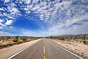 Roads Photos - Desert Road by Peter Tellone