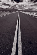Mountain Road Prints - Desert Road Trip B W Print by Steve Gadomski