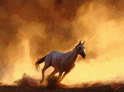 Horses Digital Art - Desert Run by James Shepherd