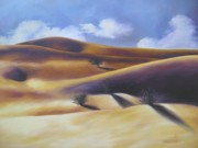 Sand Dunes Paintings - Desert Scape by Sherrie Cork