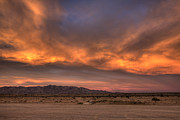 Salton Sea Prints - Desert Sky Burning Print by Peter Tellone