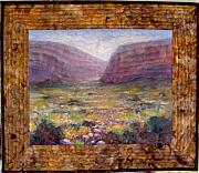 Realism Mixed Media Originals - Desert Spring by Diane and Donelli  DiMaria
