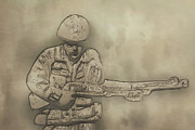 Army Men Prints - Desert Storm Army Soldier Print by Randy Steele