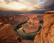 Ravine Framed Prints - Desert Sunrise at Horseshoe Bend Framed Print by Matt Tilghman