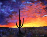 Desert Sunset IIi Print by M Diane Bonaparte