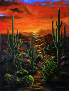 Lance Headlee Metal Prints - Desert Sunset Metal Print by Lance Headlee