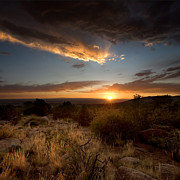 Desert Metal Prints - Desert Sunset Metal Print by Matt Tilghman