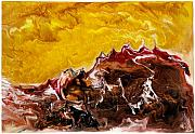 Multi Colored Paintings - Desert Turmoil by Paul Tokarski