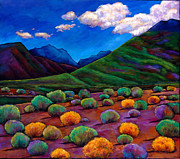 Vibrant Colors Paintings - Desert Valley by Johnathan Harris