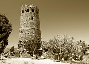 Hopi Prints - Desert view tower work number 1 Print by David Lee Thompson