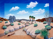 Sand Dunes Paintings - Desert Vista 2 by Snake Jagger