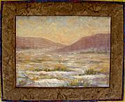 Realism Mixed Media Originals - Desert Winter by Diane and Donelli DiMaria