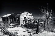 Abandoned School House Framed Prints - Deserted in the Desert  Framed Print by John Rizzuto
