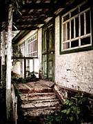 Wooden Stairs Metal Prints - Deserted Not Forgotten Metal Print by Julie Palencia
