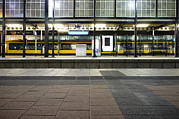 The Hague Prints - Deserted Train Station In The Hague Print by Corepics