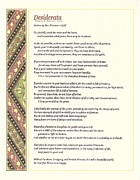 Poem Framed Prints - Desiderata 1 Framed Print by Harley MacDonald