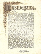 Motivational Prints - Desiderata 4 Print by Claudette Armstrong
