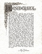Inspirational Drawings - Desiderata 6 by Claudette Armstrong