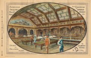 Billiards Framed Prints - Design for a Billiard Room 1881 Framed Print by Deuce