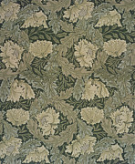 Arts And Crafts Prints - Design for Lea wallpaper Print by William Morris