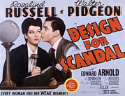 Posth Posters - Design For Scandal, Rosalind Russell Poster by Everett