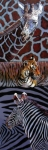 Tiger Paintings - Designs for Defense and Offense by John Lautermilch