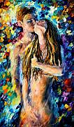 Women Painting Originals - Desire by Leonid Afremov