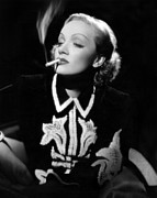 Thin Eyebrows Posters - Desire, Marlene Dietrich, 1936 Poster by Everett