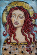 Christian Art . Devotional Art Painting Prints - Desiree Print by Rain Ririn
