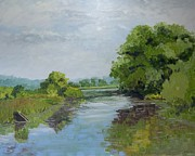 Dundas Paintings - Desjardins Canal by Fred Urron