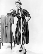 Striped Dress Art - Desk Set, Katharine Hepburn, 1957 by Everett