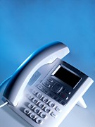 Technological Communication Prints - Desk Telephone Print by Tek Image
