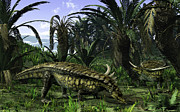 Earth Digital Art - Desmatosuchus Search For Edible Roots by Walter Myers