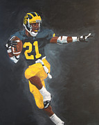 U-m Framed Prints - Desmond Heisman Framed Print by Travis Day