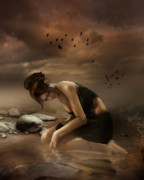 Torn Digital Art Prints - Desolation Print by Karen Koski
