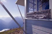 Desolation Prints - Desolation Peak Fire Lookout Cabin Sign Print by David Pluth