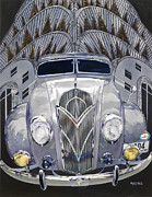 Auto Art Prints - DeSoto and Deco Design Print by Mike Hill