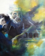 Floods Paintings - Despair - Pakistan floods by Mazarine Memon
